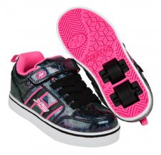 Heelys X2 Bolt Plus - Black Hologram-Pink
